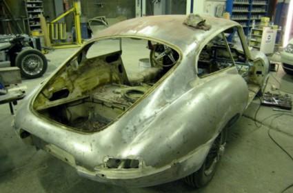 Restauration complète d'une Jaguar Type E Série 1 3,8L