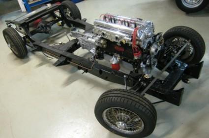En cours de restauration Jaguar XK 120 roadster